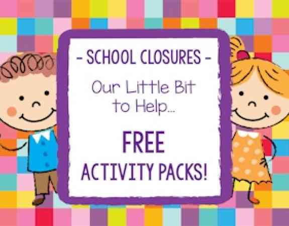 School closures free activity packs 320